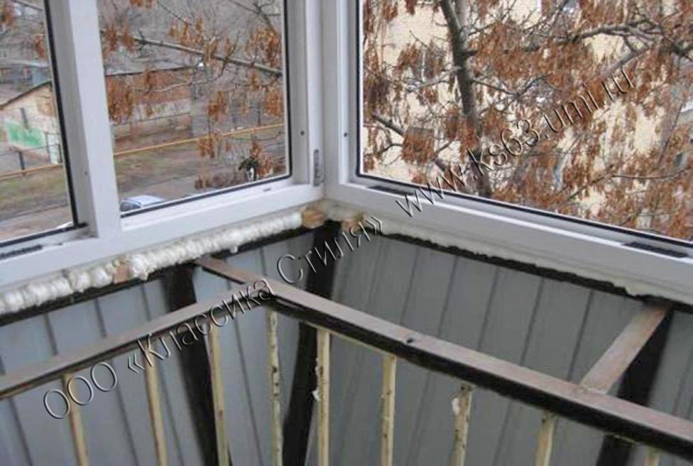 Остекление балкона с выносом по плите бэстокна..